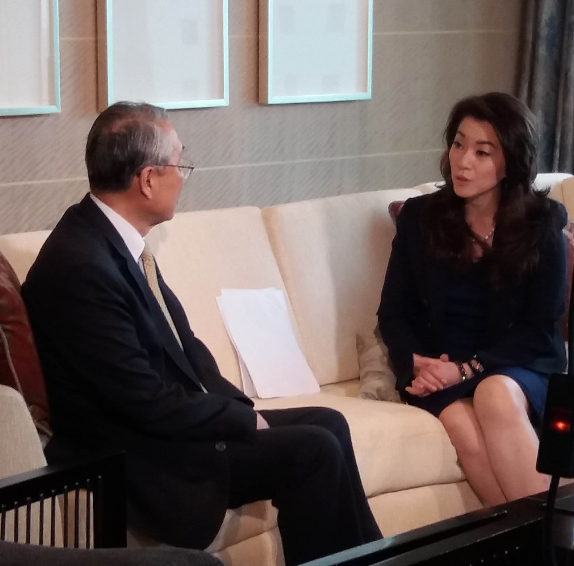 Stan Shih, Acer Founder and Honorary Chairman, with Cathy Yang host of ANC's The Boss
