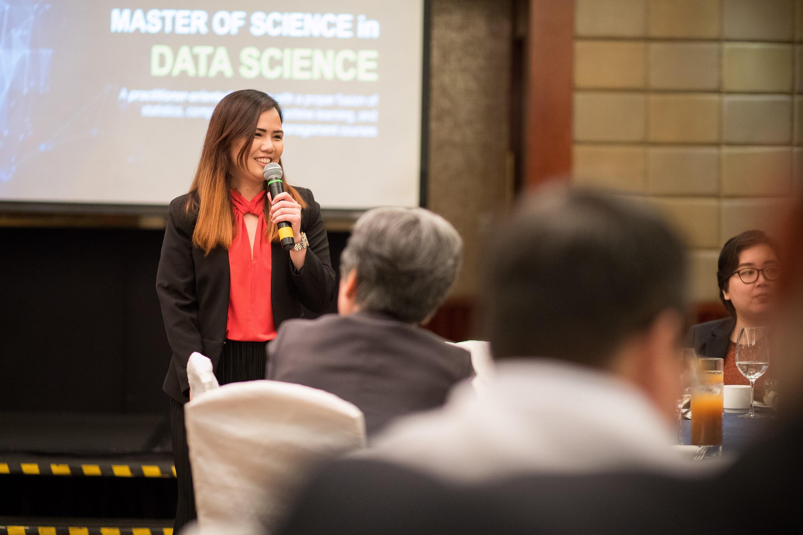 Dr. Legara addresses the sponsors