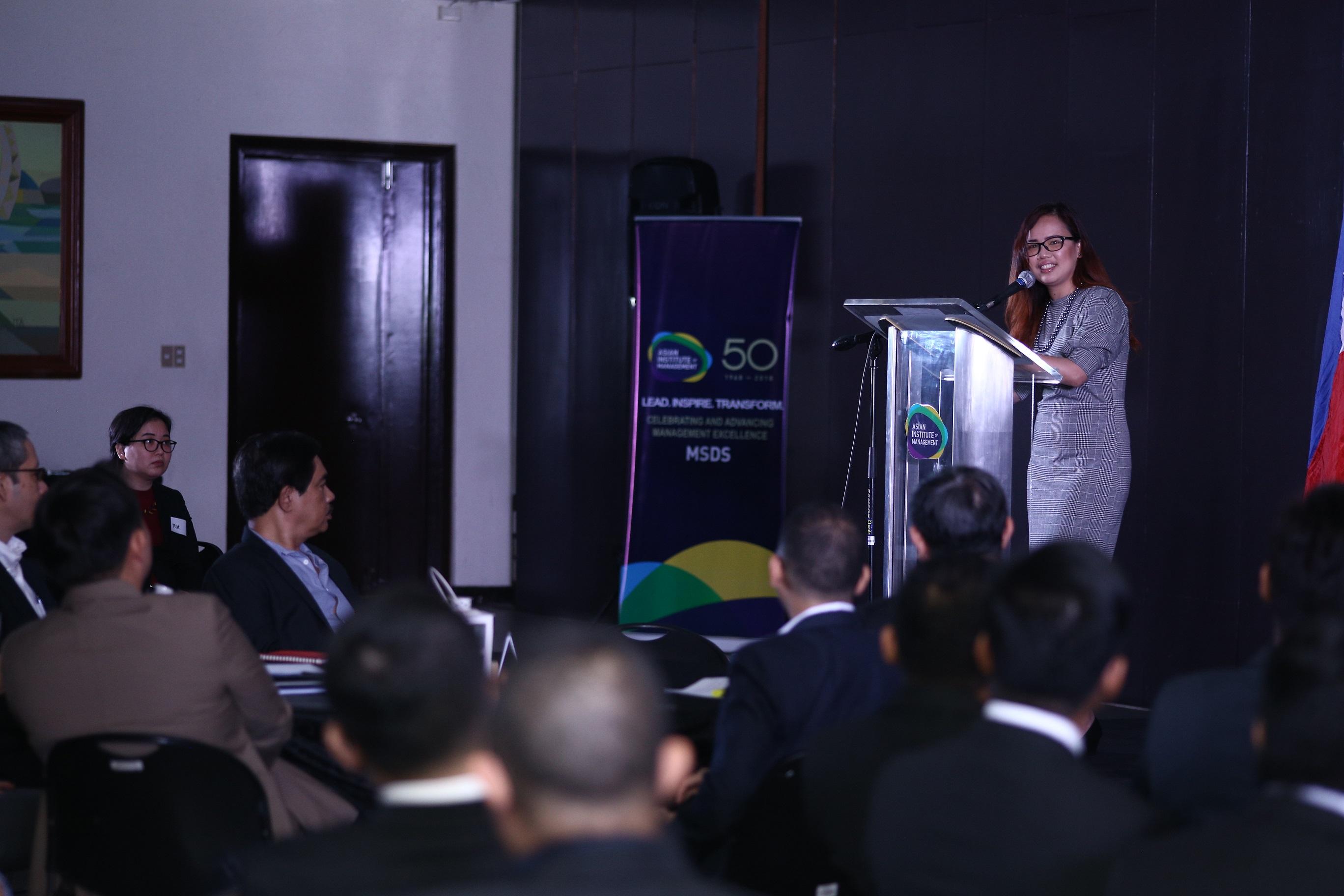 Erika Legara address the MSDS convocation