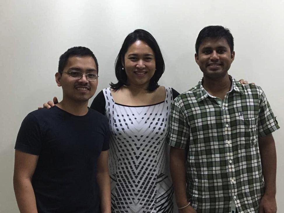 Team Cultivate (from left): MIB Team Leader Leonard Cruz, with members Crystal Anievas (MDM 2017) and Prashant Verma (MBA 2017).