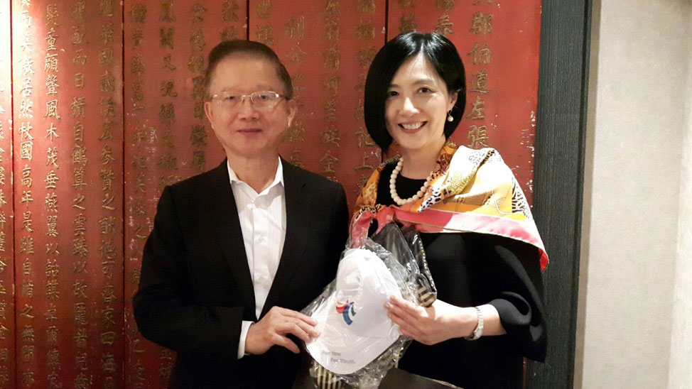 AIM Alumni Association of Taiwan President PC Chen with Dr. Jikyeong Kang
