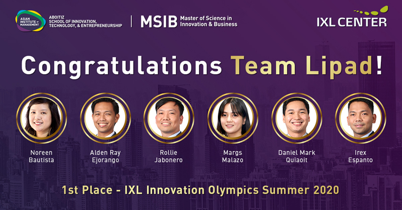 1st Place - IXL Innovation Olympics Summer 2020
