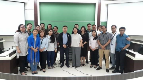 "Participants of the ""Dev@Work: Developing Social Impact Bonds for Employment"" forum at the Asian Institute of Management held on 08 June 2018"