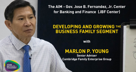Developing and Growing the Business Family Segment: A Forum for Private Bank and Wealth Management Executives