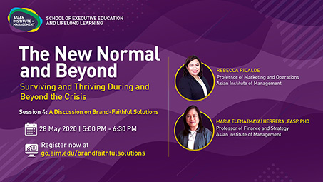 The New Normal and Beyond Session 4
